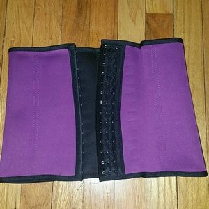 Waist Trainer Corset Large Purple for Workouts